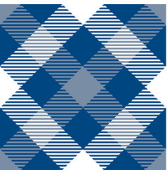 Classic blue tartan plaid seamless pattern vector