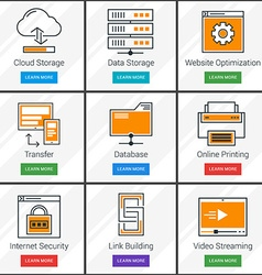 Cloud Computing Data Storage Online Service vector image