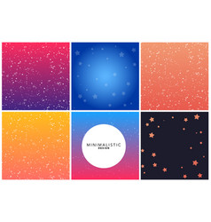 colorful bright backgrounds in gradient tones vector image