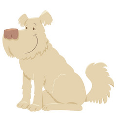 Cream shaggy dog cartoon vector