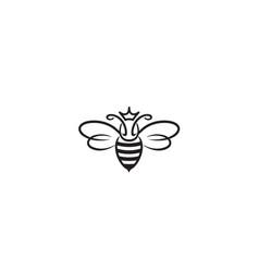 Creative bee insect queen abstract logo vector