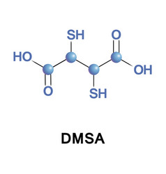 Dimercaptosuccinic acid dmsa called succimer vector