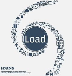Download now icon Load symbol in the center Around vector