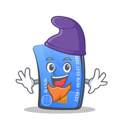Elf credit card character cartoon vector