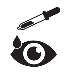 Eye drop icon eye health icon eye isolated vector