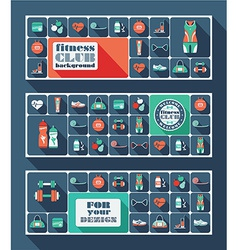 Fitness Icons background Flat design vector