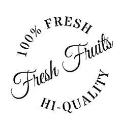 Fresh fruits stamp vector