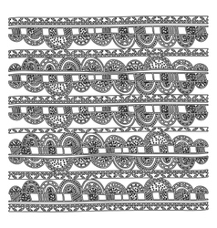 grayscale pattern with geometric figures vector image