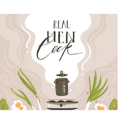 hand drawn modern cartoon cooking class vector image