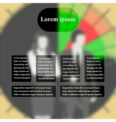 infographics business people in the background vector image
