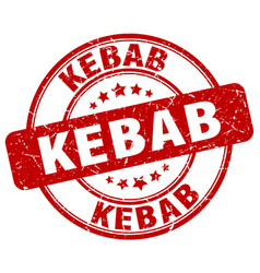Kebab stamp vector