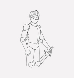 knight icon line element of vector image