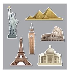 Landmarks stickers vector