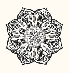 Mandala decorative round ornament vector