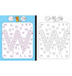 Maze letter w vector