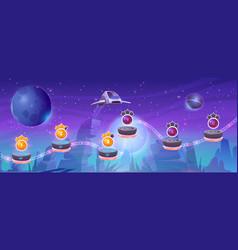 Mobile arcade with spaceship interstellar shuttle vector