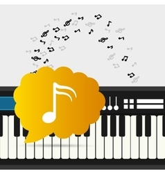 mobile music keyboard piano with note vector image