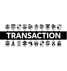 online transactions minimal infographic banner vector image