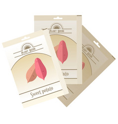 Pack of sweet potato seeds vector