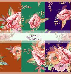 pattern sumer romanse vector image