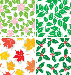 patterns four seasons vector image