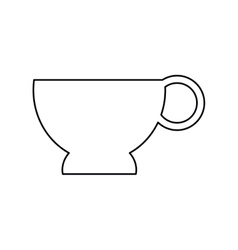 pictogram cup coffe break time office icon vector image
