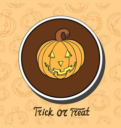 Pumpkin on halloween background vector