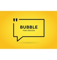 Quote blank template bubble empty design vector