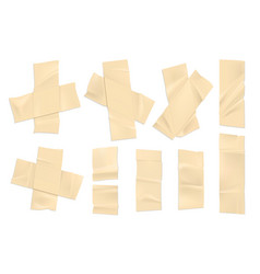 realistic adhesive tape strips old paper vector image