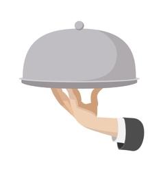 Restaurant cloche cartoon icon vector image