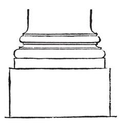 Scamillus atreus vintage engraving vector