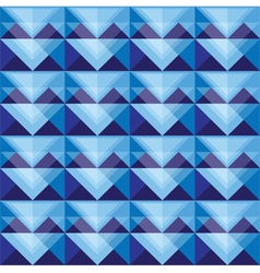 Seamless blue triangle pattern design vector