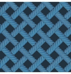 Seamless pattern of interwoven ropes vector