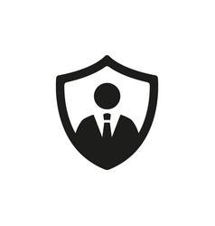 Security agency sign on white background vector