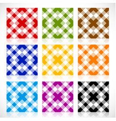 set 9 repeatable geometric tile with different vector image