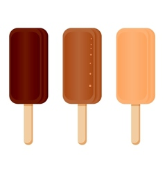 set of chocolate ice cream vector image