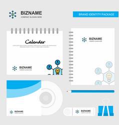 share idea logo calendar template cd cover diary vector image