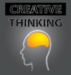 Smart creative thinking brain vector