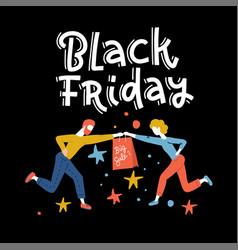 special offer black friday sale square banner vector image