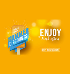 Special offer summer sale advertising banner label vector