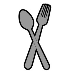 Spoon and fork icon vector