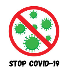 stop coronavirus red sign vector image