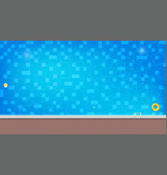 Swimming pool with floating inflatable ball and vector