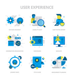 User experience flat icons vector