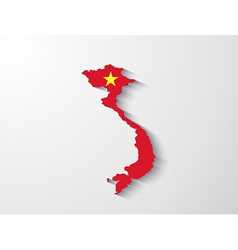 Vietnam map with shadow effect vector image