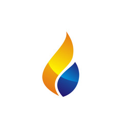 water fire flame gas oil vector image