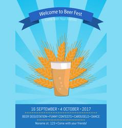 Welcome to beer fest 2017 vector