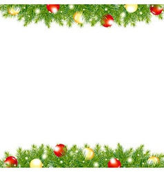 Xmas And Happy New Year Border vector image