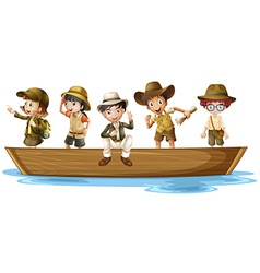 Young explorers vector image