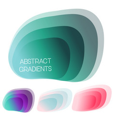 abstract gradient shapes set vector image vector image